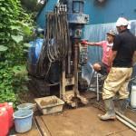 井戸の用途:農業用井戸 井戸掘り地域:埼玉県川越市中福 施工内容:井戸掘り工事と機器設置
