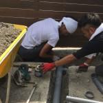 井戸の用途:作業用井戸 井戸掘り地域:埼玉県ふじみ野市 施工内容:井戸掘り工事と機器設置